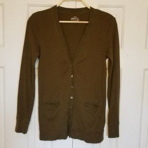 J. Crew Forest Green Perfect Fit V-neck Cardigan